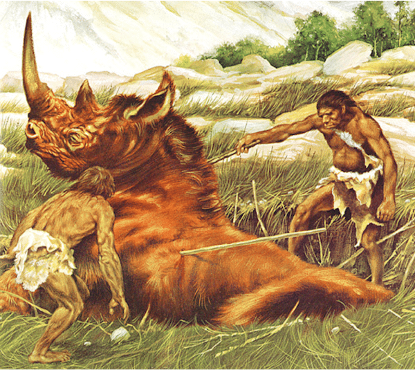 cavemen hunting